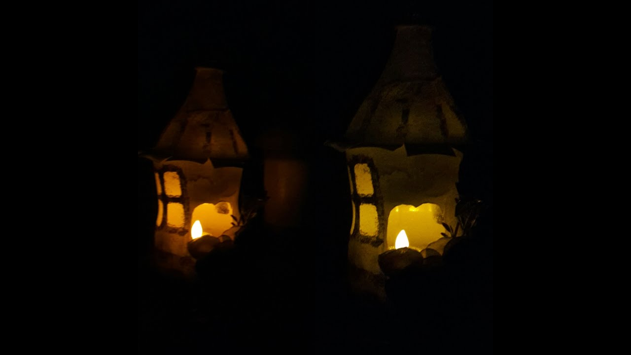 Making Fairy House Night Light from Plastic Bottle| Pintrest inpired ... for Night Lamp Photography  589hul