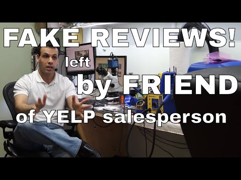 Defamation of character and extortion; Yelp salesperson has friends leave bad reviews!