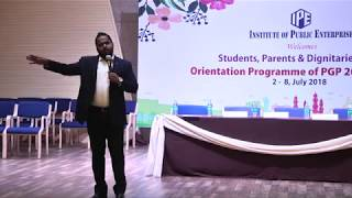 Orientation Programme of PGP 2018-20 Batch, -4.  Day 2, July 3rd 2018