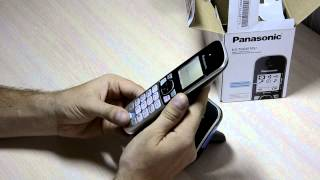 Unpacking cordless bu Panasonic KX-TG6811RU