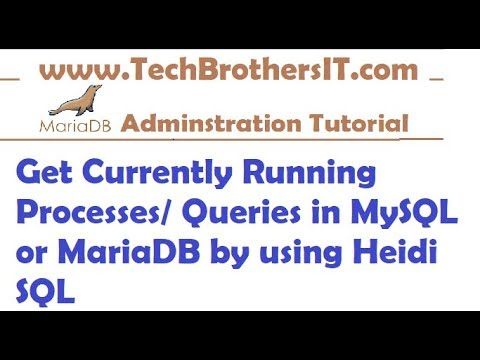 How to Check Currently Running Queries  Processes on MySQL or MariaDB by using Heidi SQL
