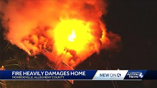Large fire at Monroeville home