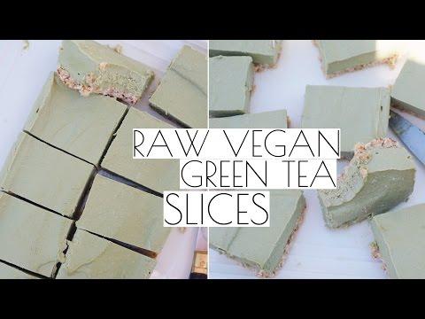 MATCHA GREEN TEA SLICES - RAW VEGAN | Tess Begg
