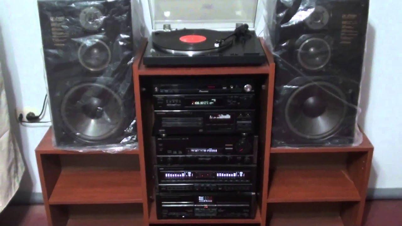 Mi sistema de sonido hi fi youtube for Mueble equipo hifi