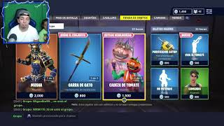 the best of the store like get it skin MUSHA AND HEAD OF TOMATE IN FORTNITE
