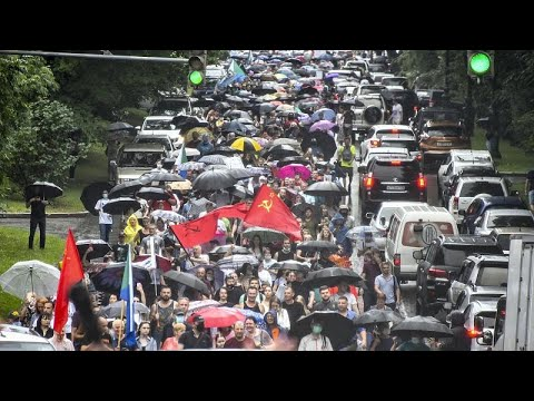شاهد: مظاهرات في خاباروفسك الروسية للسبت الرابع على التوالي احتجاجا على اعتقال سيرغي فورغال…  - 20:57-2020 / 8 / 1