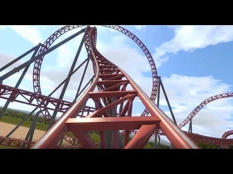 "Animated Carowinds POV ""Copperhead Strike"" 2019 Coaster. Rumored Layout"