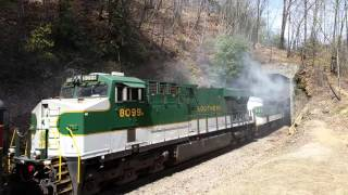 611 going through a tunnel on the old fort loops