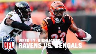 Ravens vs. Bengals   Week 17 Highlights   NFL