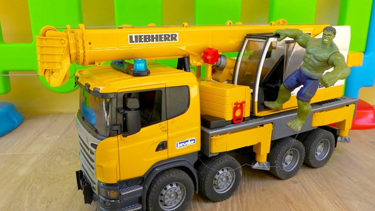 덤프트럭 포크레인 구급차 구출놀이 중장비 자동차 트럭놀이 Rescue Ambulance Truck Toy