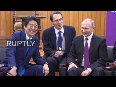 Japan: Abe and Putin share a joke after Kodokan Judo Institute visit