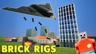 LEGO B-2 PLANE TAKES OUT CITY! - Brick Rigs Gameplay Challenge & Creations
