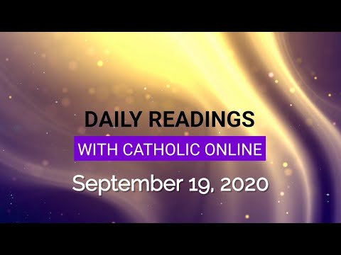 Daily Reading for Saturday, September 19th, 2020 HD