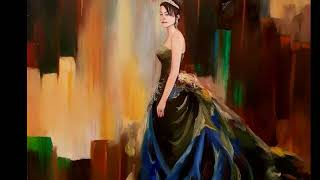Lamees Alhassar Self Portrait Oil Painting Elegant