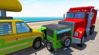 Realistic high speed big rig crashes! - beamng drive crash test compilation gameplay
