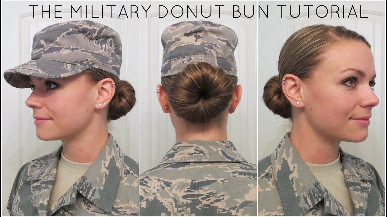 military donut bun tutorial - youtube