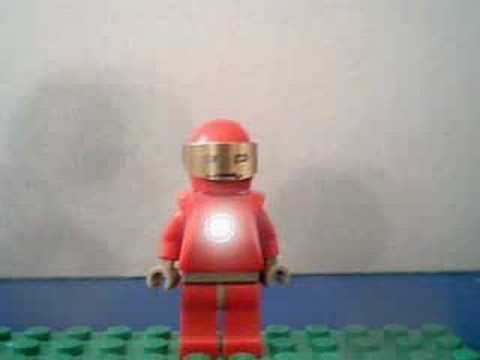 lego Iron man: short flying 2 - lego iron man flying..