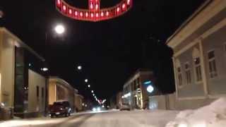 Jakobstad Pietarsaari 27.12 2014 Storgatan Isokatu tro hopp och kärlek usko toivo rakkaus