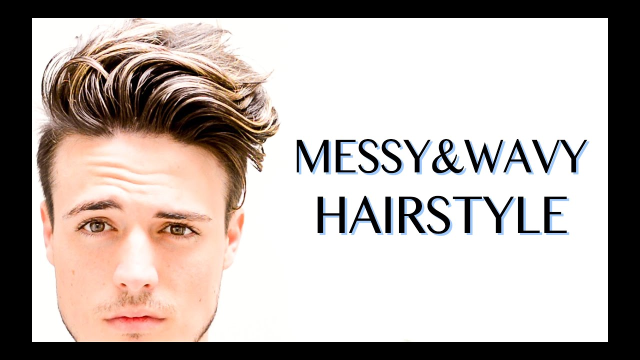 Men\'s Wavy Hairstyle - YouTube