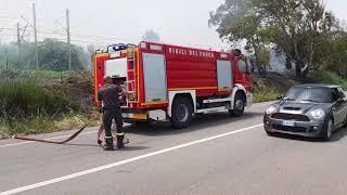 Incendi sulla costa tra Termoli e Petacciato
