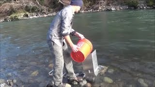 """The """"Classifier King"""" and the """"Sluice Box Feeder"""" in action out in the field mining gold!"""