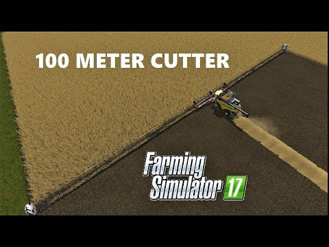Farming Simulator 17 | +100 METER CUTTER & 45000  KILOS WHEAT HARVESTING & €54000 INCOME