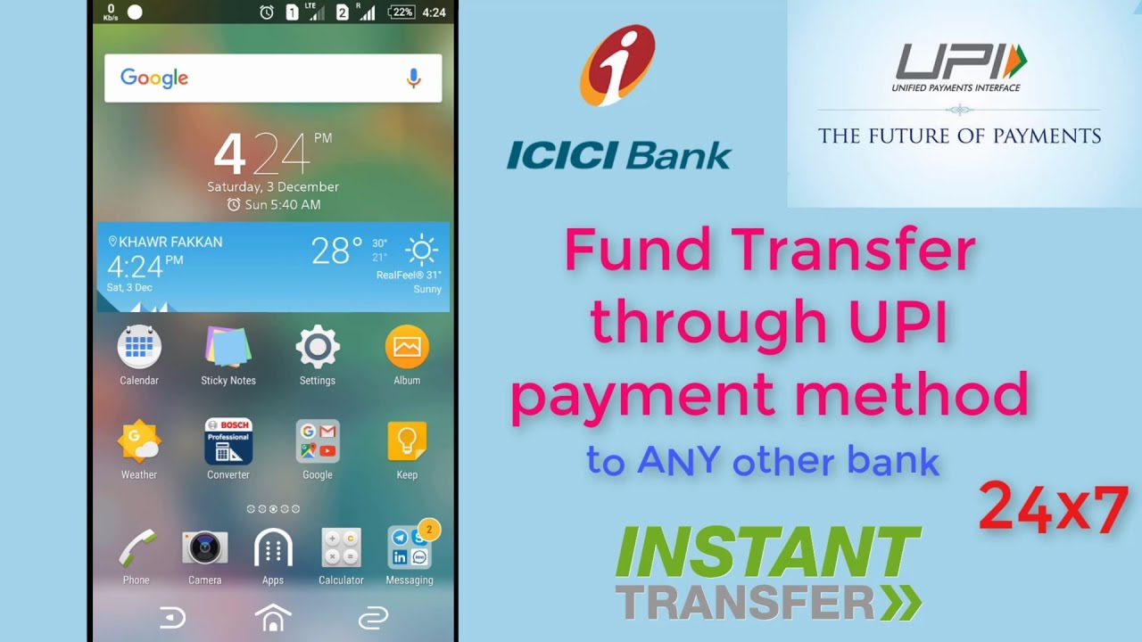 How to instant money transfer to any bank using UPI payment method   ICICI  mobile app   FULL HD