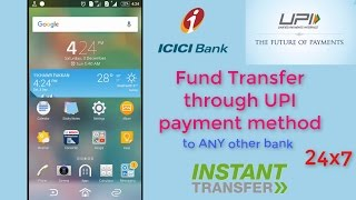 How to instant money transfer to any bank using UPI payment method | ICICI mobile app | FULL HD