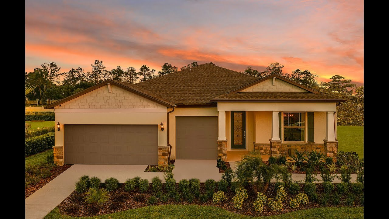 New Homes by Centex Homes - Palm Floor Plan - YouTube