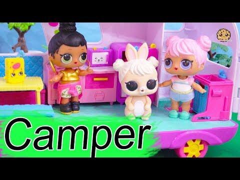 Girls Camper Trip  LOL Surprise Dolls Go On Vacation - Cookie Swirl C