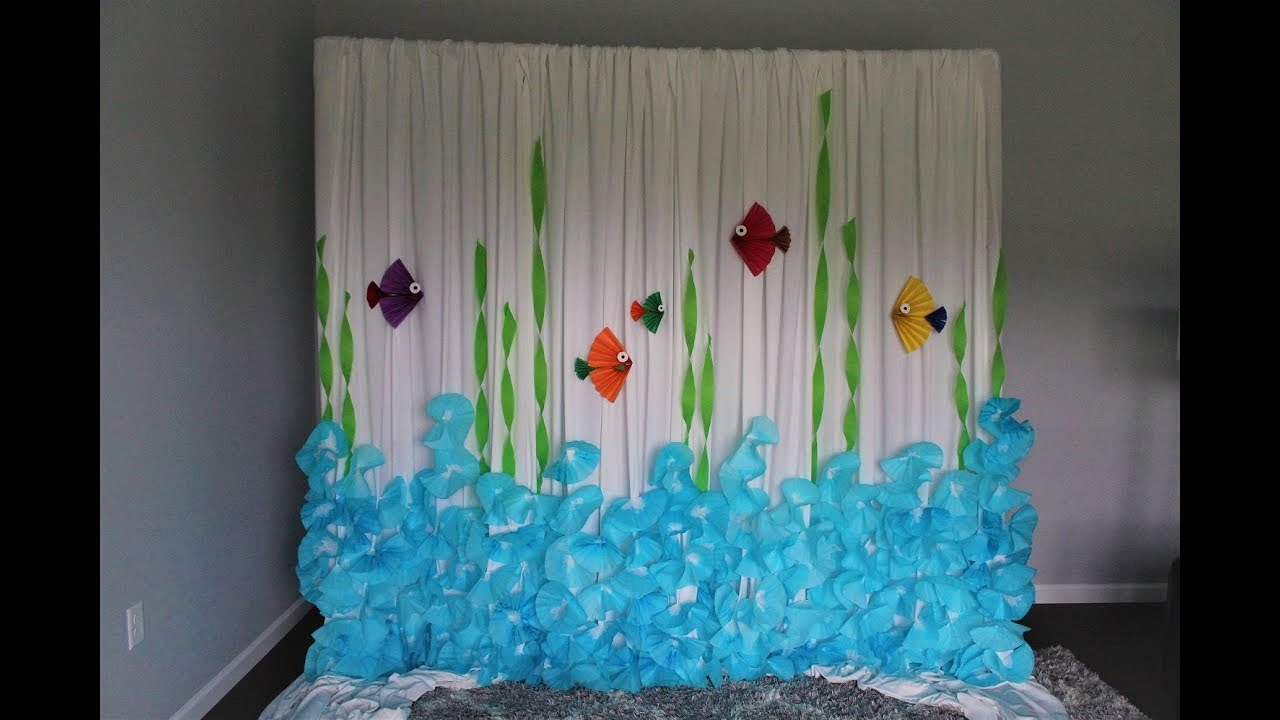 Coffee Filter Backdrop Diy Under The Sea Youtube