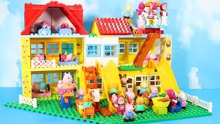 Lego Duplo Peppa Pig House Construction Set - Peppa Pig Legos Creations Toys For Kids #5