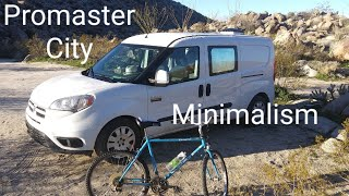 A.Js. Tiny spaces big places traveling and living in a ProMaster City with