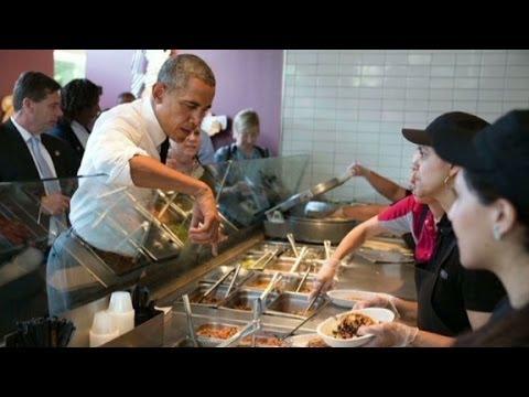 #Chipotus Ew! Obama's fast food flub