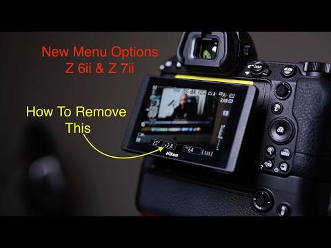 Nikon Z6 II & Z7 II New Menu Options and Changes