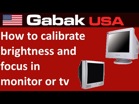 How to calibrate brightness and focus in monitor or TV CRT
