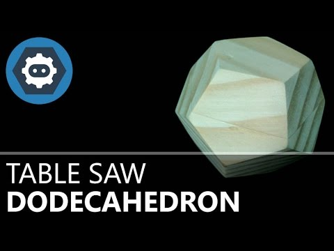 Making a solid wood dodecahedron on the table saw