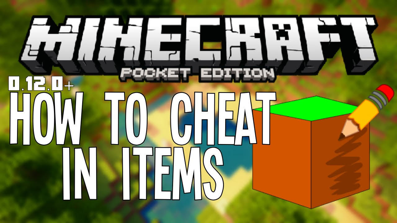 HOW TO CHEAT IN ANY ITEMS IN MCPE - Minecraft PE (Pocket Edition ...