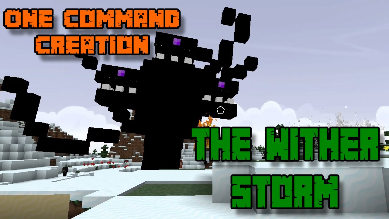 THE WITHER STORM  One Command Block Creation: Minecraft