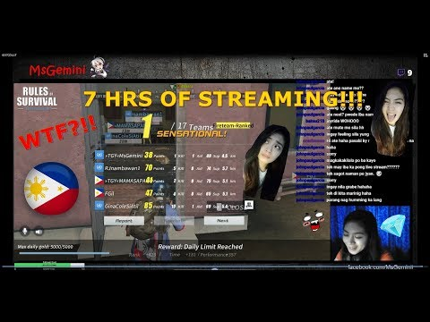 7 HRS OF STREAM!!! RULES OF SURVIVAL ASIA SERVER!