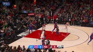 1st Quarter, One Box Video: Portland Trail Blazers vs. Detroit Pistons