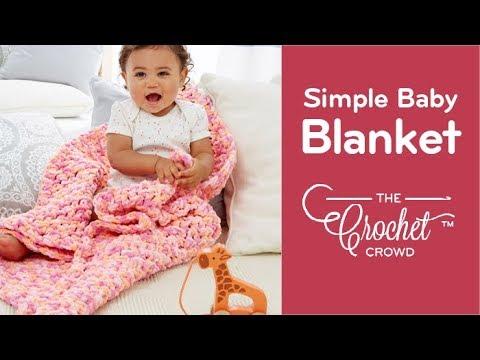 Crochet Simple Baby Blanket For Beginners Youtube
