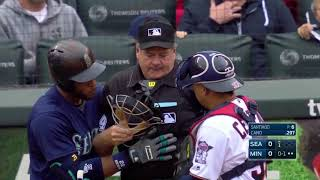 MLB Playback - Batter, Catcher, Umpire get hit compilation