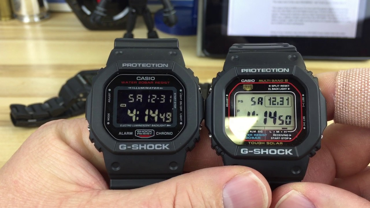 G Shock Square Options 5600 Series Youtube