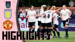 HIGHLIGHTS | Aston Villa Ladies v Manchester United Women | FA Women's Championship