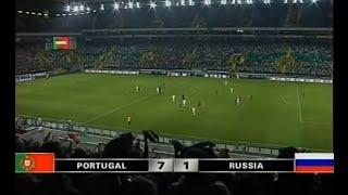 Португалия 7 1 Россия Отборочный матч ЧМ 2006