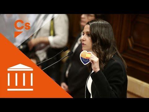 Inés Arrimadas. Discurso en pleno sobre declaración de independencia thumbnail