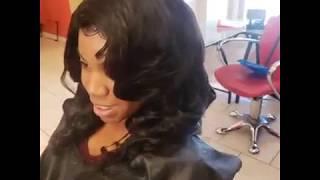 Lace closure install 3 bundles and a 3 part lace closure #hairtamersstudio