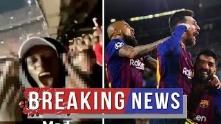 Benjamin Mendy celebrates Barcelona Liverpool win in X-RATED clip Man City fans will LOVE Man City N