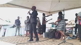 PROPHET KOFI AMPONSAH HOUSE OF EZRA SINGS AT MAMA ESTHER'S FATHER INLAWS FUNERAL